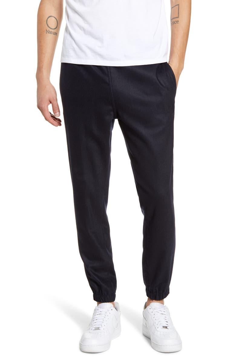 WAX LONDON Tripp Wool Blend Jogger Pants, Main, color, NAVY