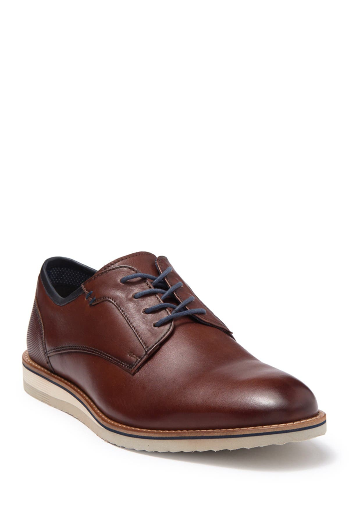 Image of MODERN FICTION Helvetica Leather Plain Toe Derby