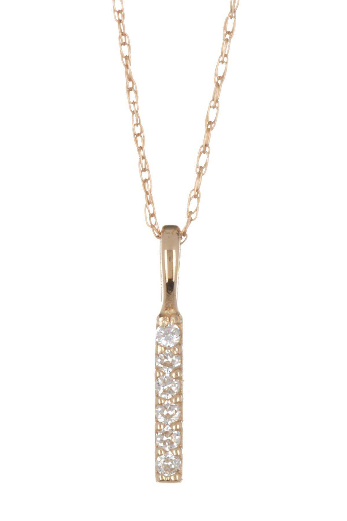 Image of Candela 10K Yellow Gold CZ Bar Necklace