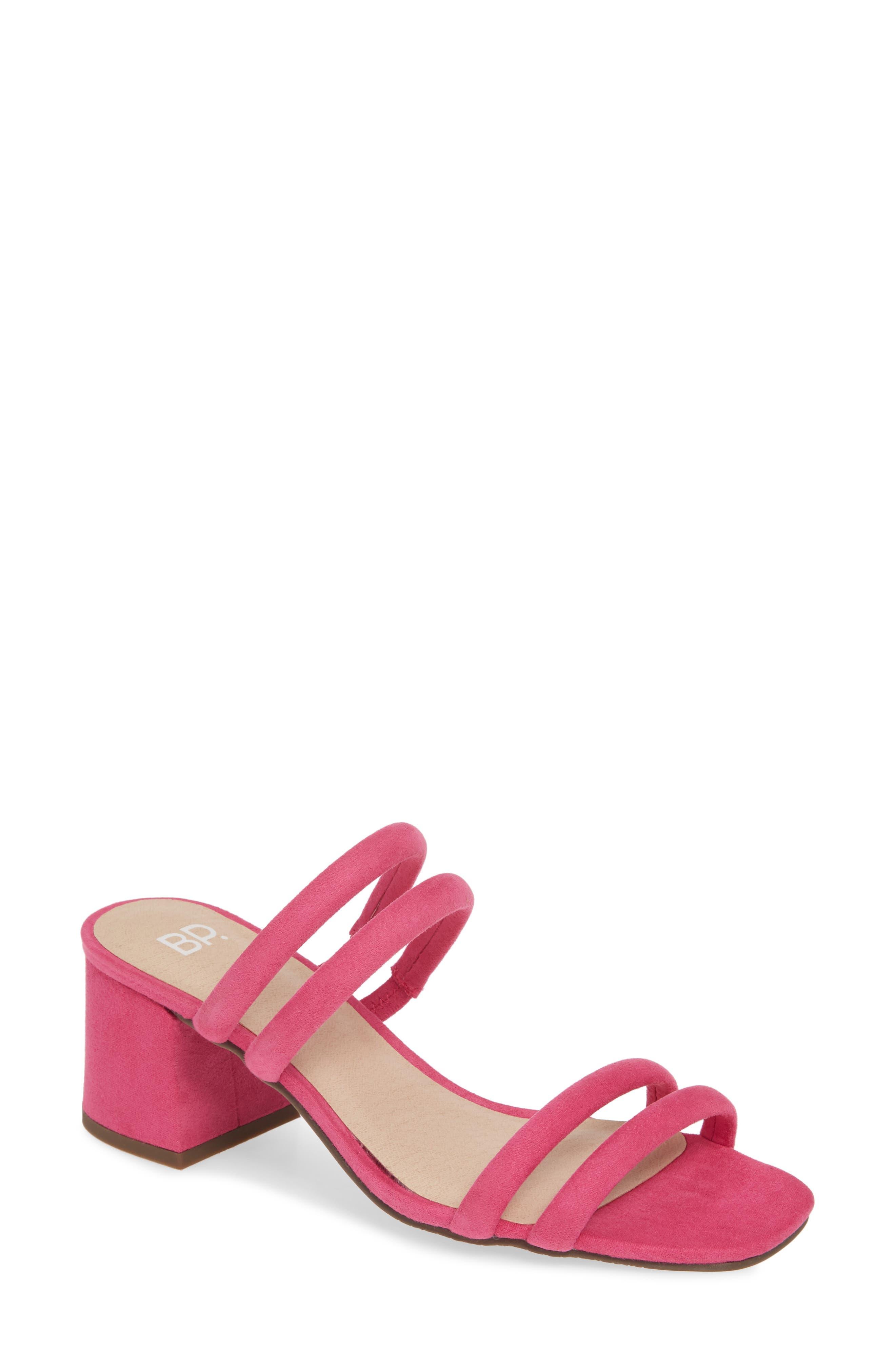 BP. Lucia Block Heel Slide Sandal (Women)