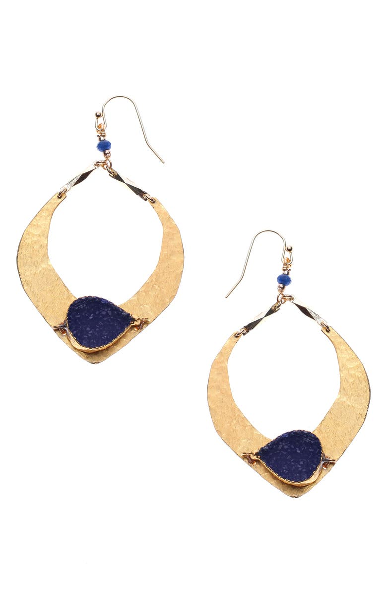 Nakamol Design Hammered Teardrop Earrings
