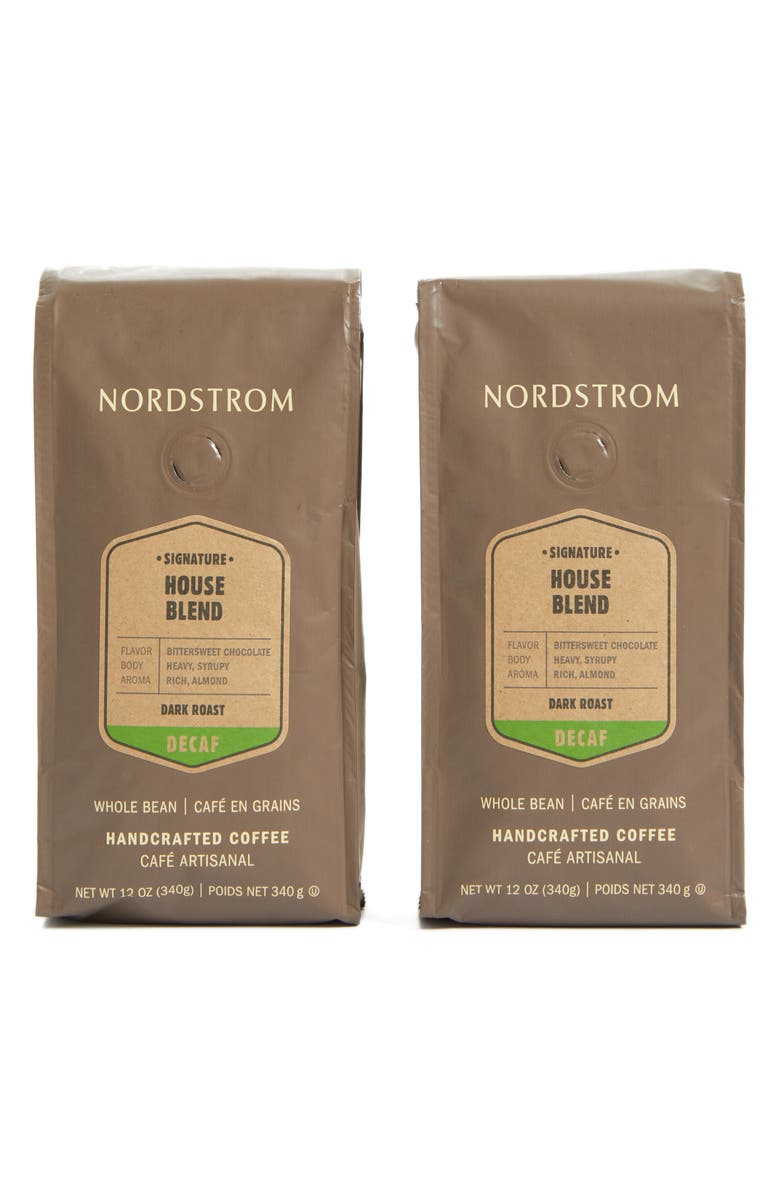 NORDSTROM Coffee 'House Blend - Decaf' Whole Bean Coffee, Main, color, 250