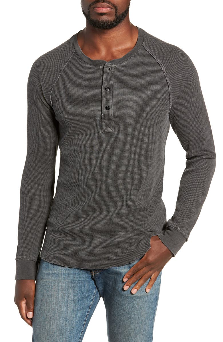 MILLS SUPPLY BY SPLENDID MILLS SUPPLY Salt Point Waffle Henley, Main, color, CHARCOAL HEATHER