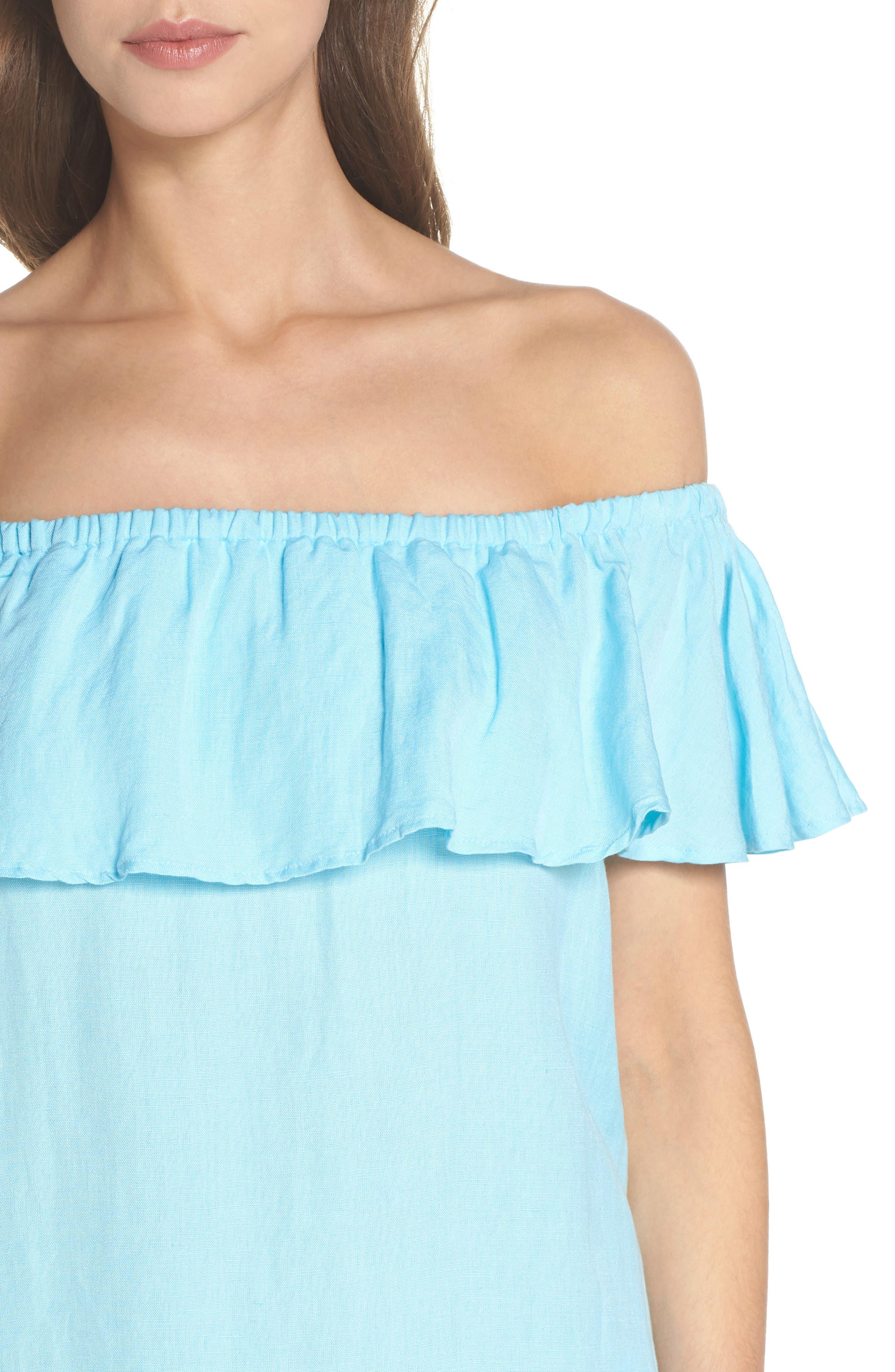 ,                             Off the Shoulder Cover-Up Dress,                             Alternate thumbnail 23, color,                             402
