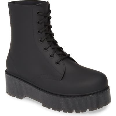 Jeffrey Campbell Torrent-2 Waterproof Platform Rain Boot, Black