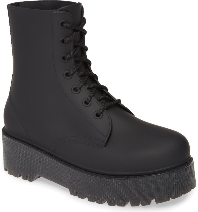 JEFFREY CAMPBELL Torrent-2 Waterproof Platform Rain Boot, Main, color, BLACK MATTE