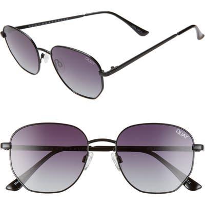 Quay Australia Big Time 4m Gradient Square Sunglasses - Black Tortoise/ Smoke