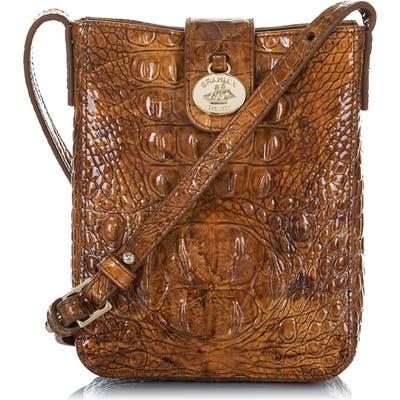 Brahmin Marley Croc Embossed Leather Crossbody Bag -