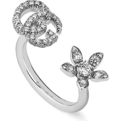 Gucci Flora Diamond Open Ring