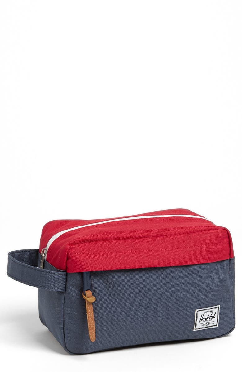 HERSCHEL SUPPLY CO. Chapter Toiletry Case, Main, color, NAVY/ RED