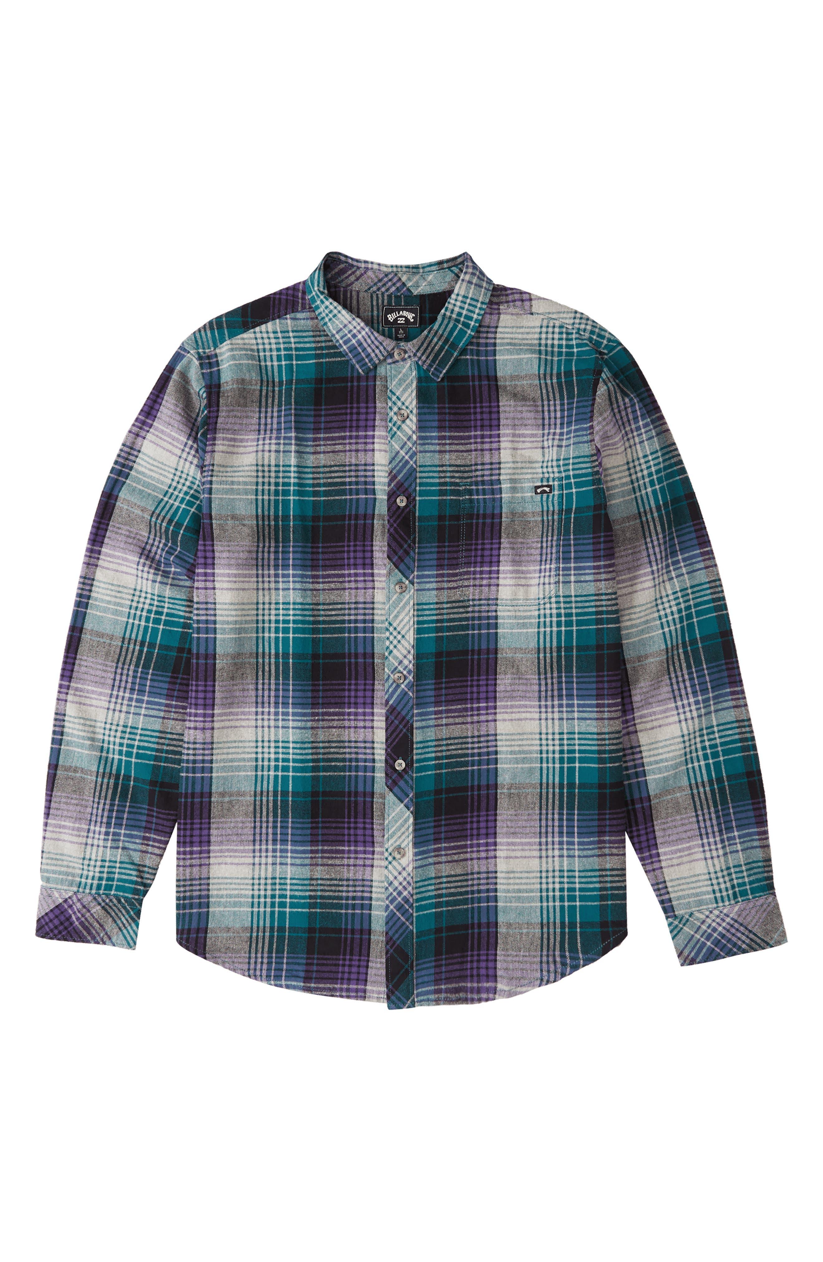 Coastline Check Flannel Button-Up Shirt
