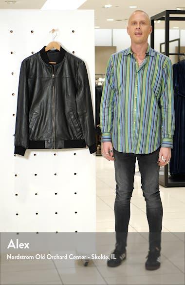 Lambskin Leather Bomber Jacket, sales video thumbnail