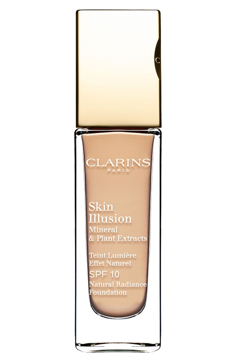 CLARINS Skin Illusion Natural Radiance Foundation SPF 10, Main, color, 104