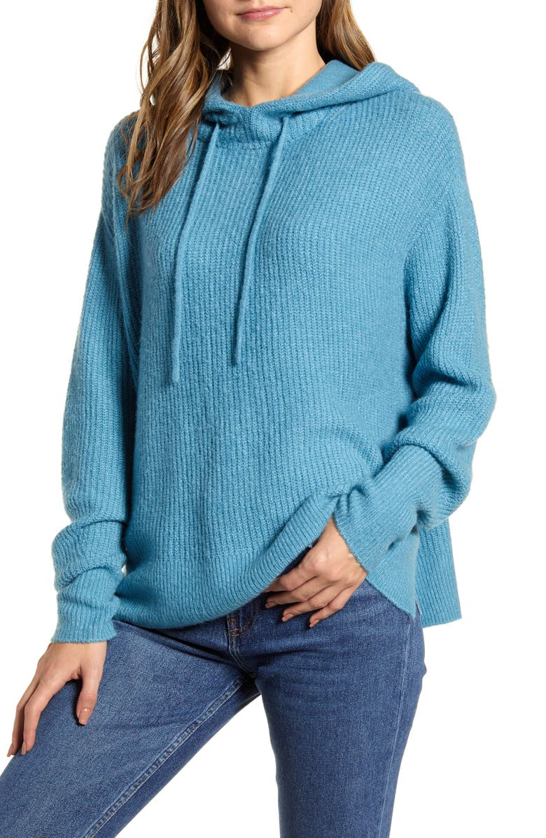 LOU & GREY Stitchy Tunic Sweater, Main, color, 400