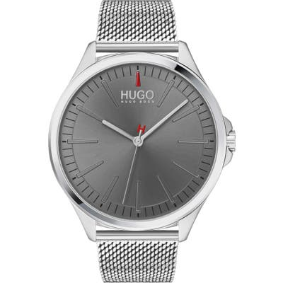 Hugo Smash Mesh Strap Watch, 4m