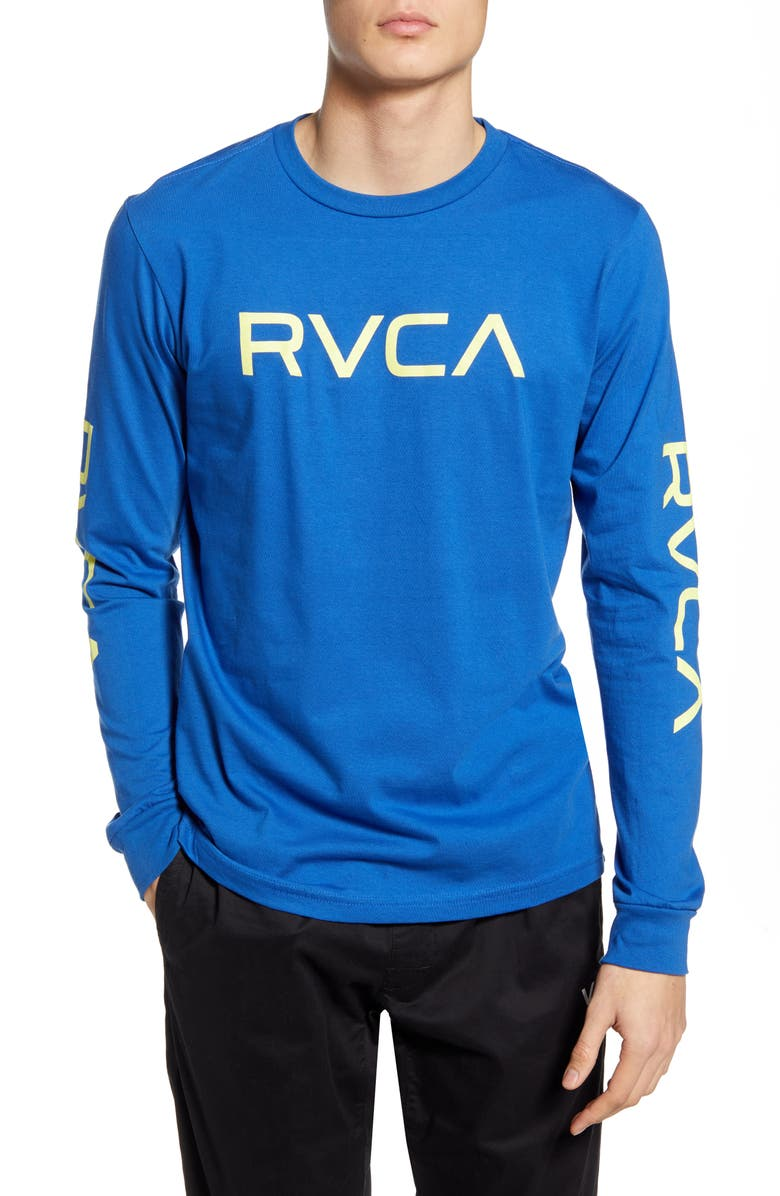 RVCA Big Logo Long Sleeve T-Shirt, Main, color, 405