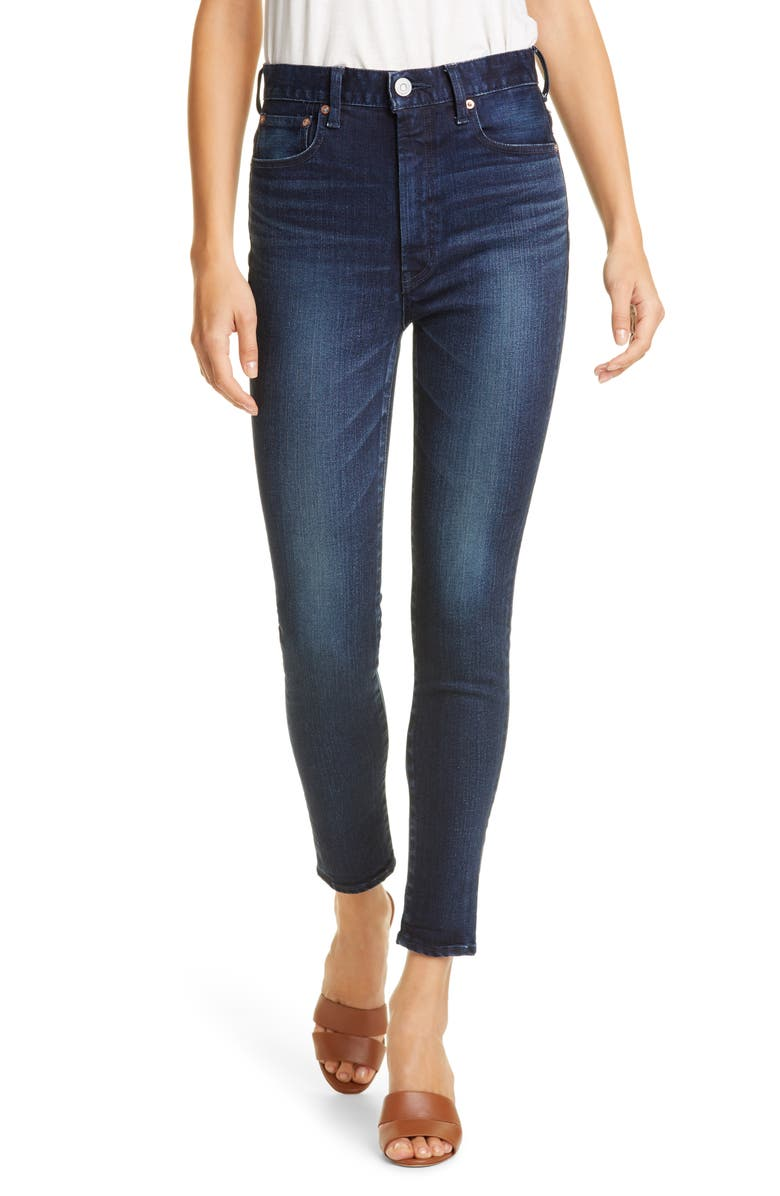 MOUSSY VINTAGE Crawford Rebirth Skinny Jeans, Main, color, DARK BLUE