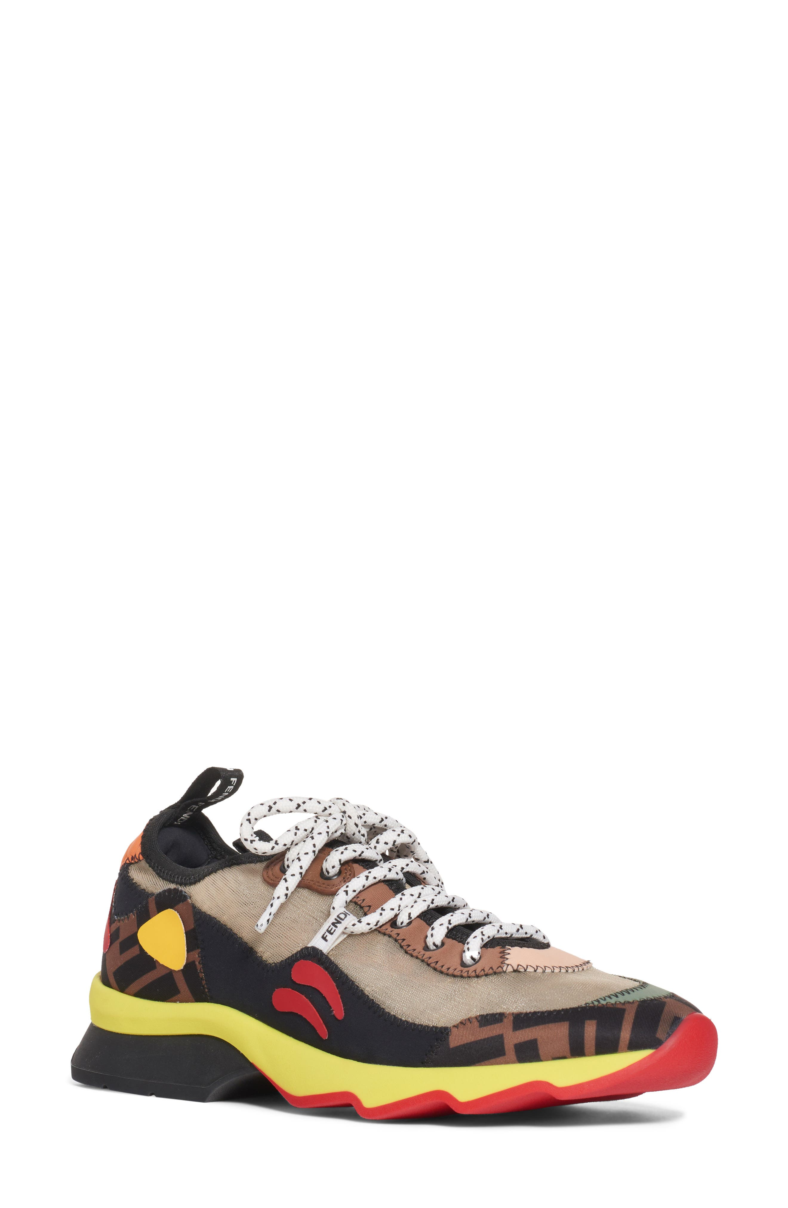 Fendi Ffreedom Patchwork Sneaker - Brown