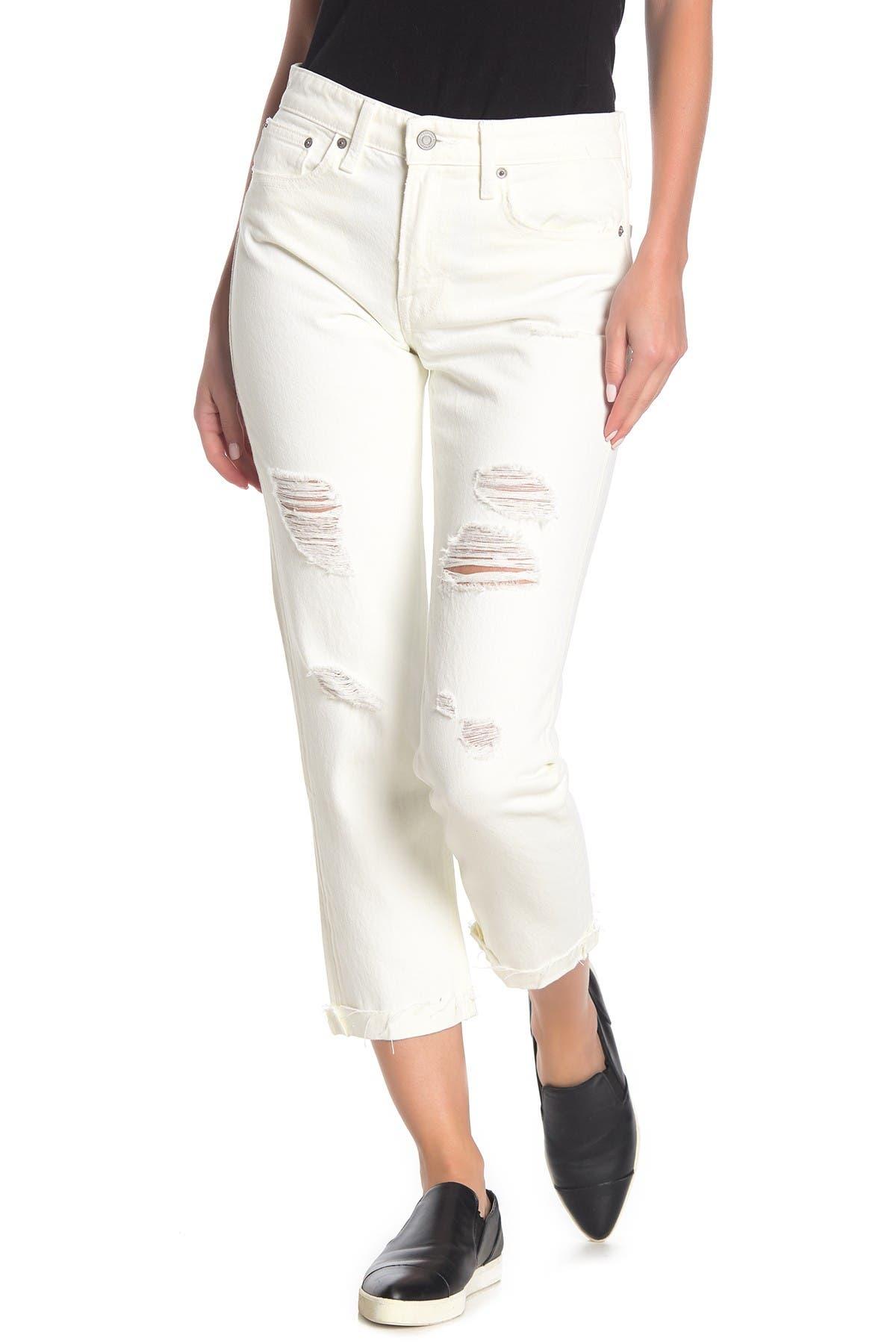 Image of Lucky Brand Sienna Destroyed Slim Boyfriend Jeans
