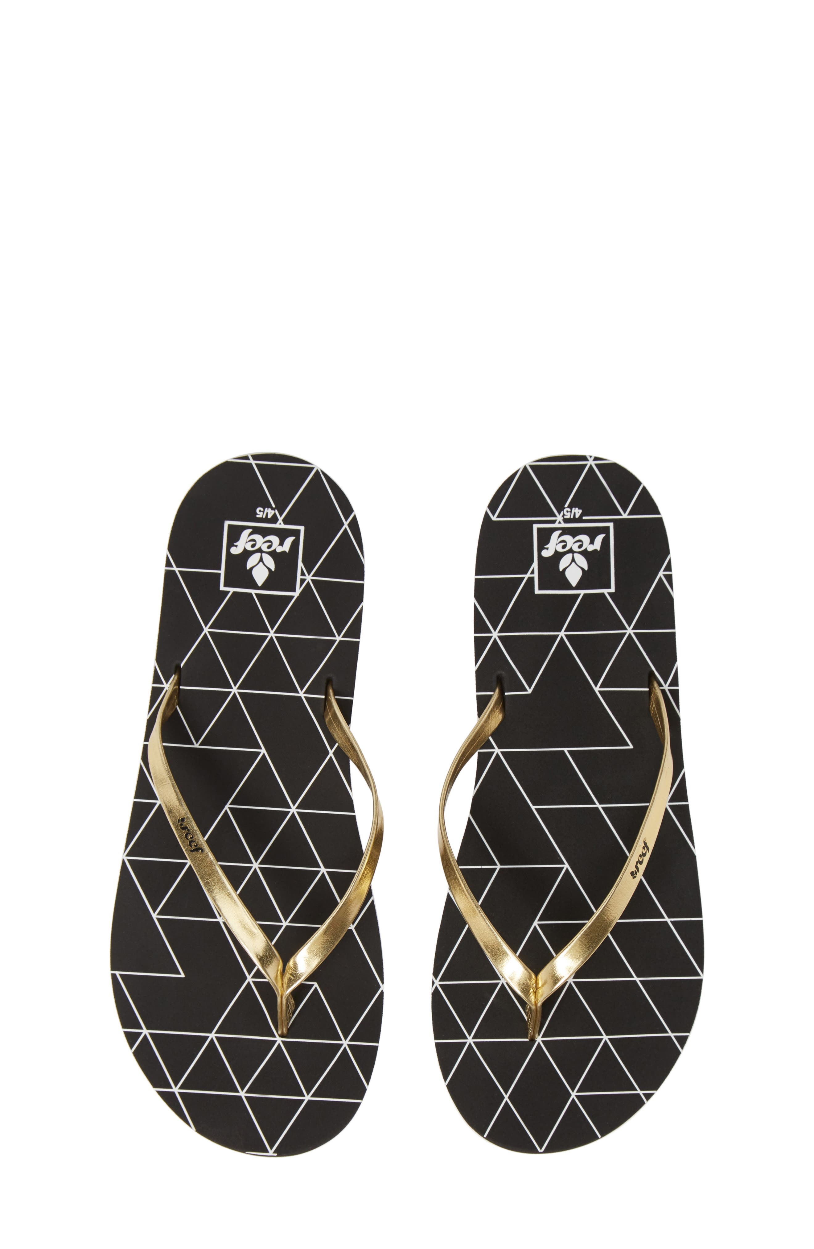 Bliss-Full Flip Flop, Main, color, GOLD PYRAMIDS