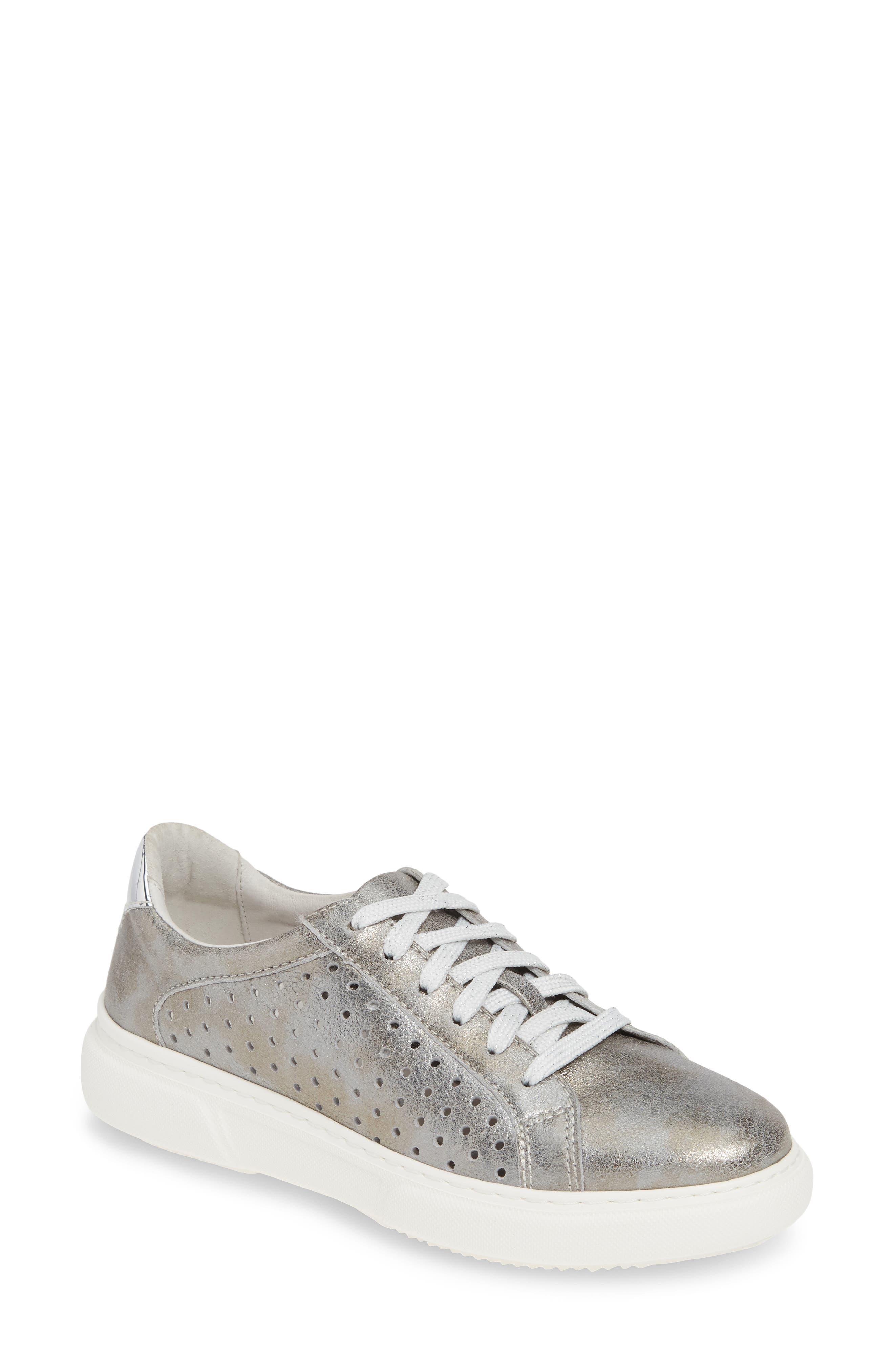 Johnston & Murphy Nora Perforated Sneaker, Metallic