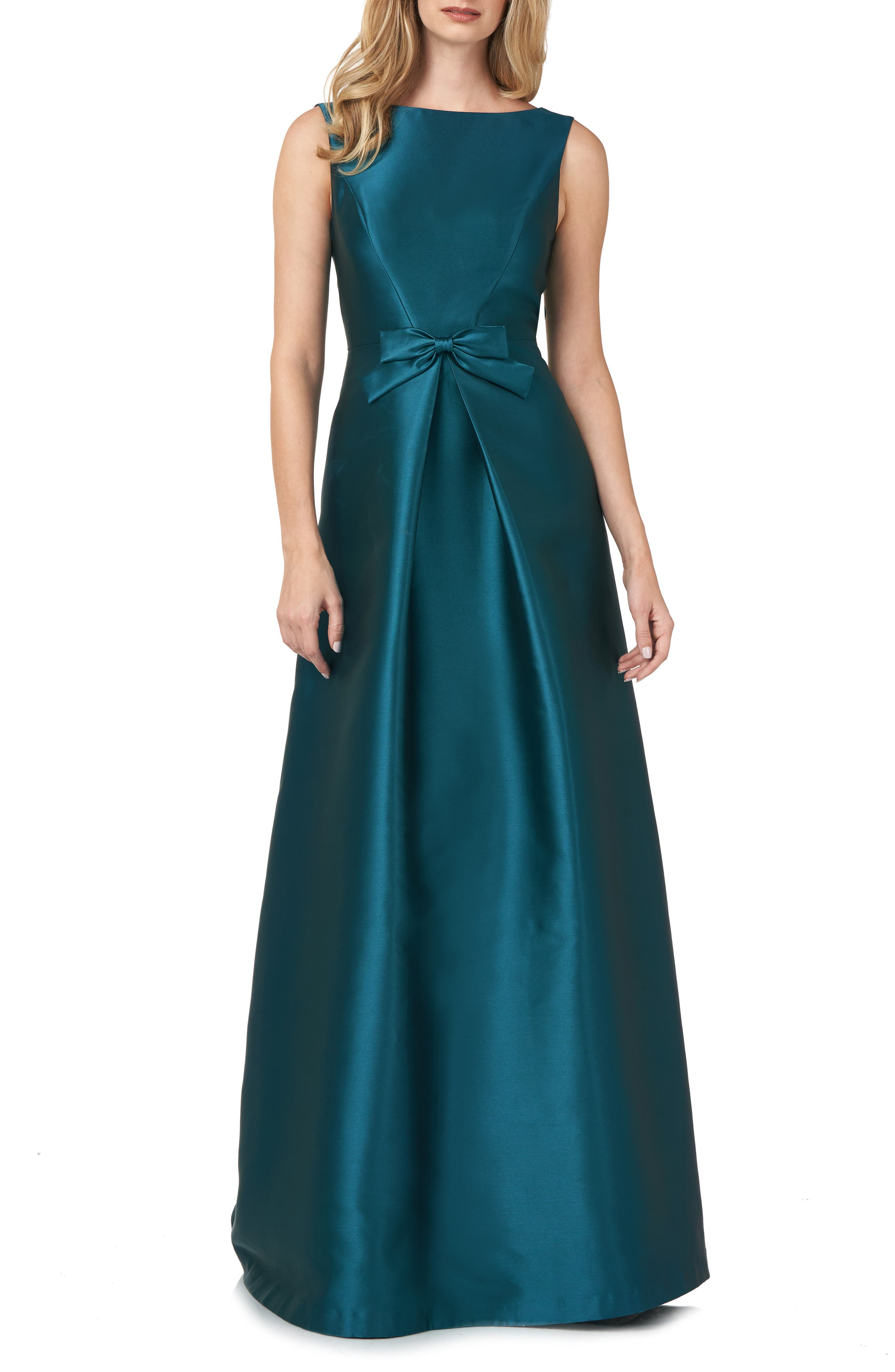 Lola Bow Twill A-Line Gown