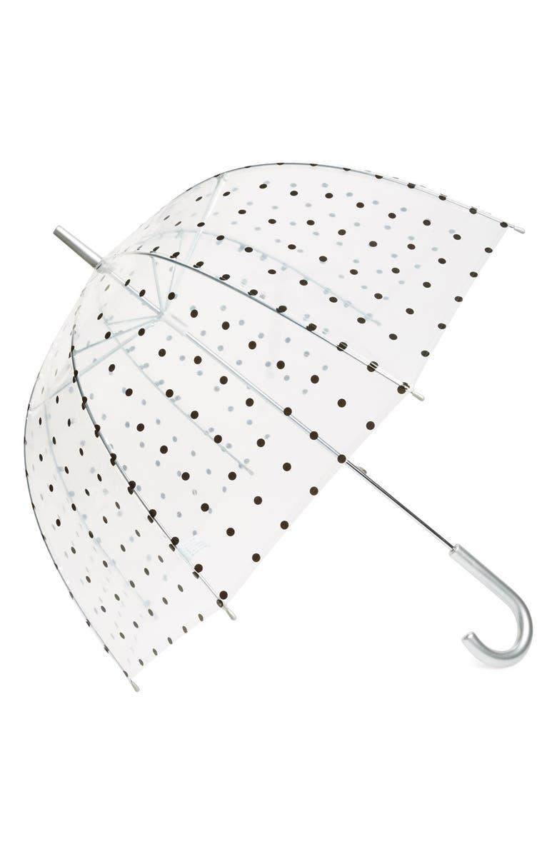 CAPELLI NEW YORK Capelli of New York Polka Dot Dome Umbrella, Main, color, 001