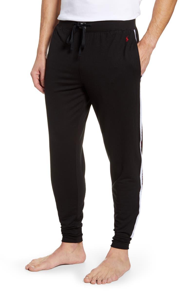 POLO RALPH LAUREN Mini Terry Jogger Pants, Main, color, POLO BLACK