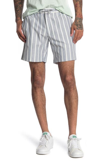 Image of TOPMAN Light Grey Stripe Shorts