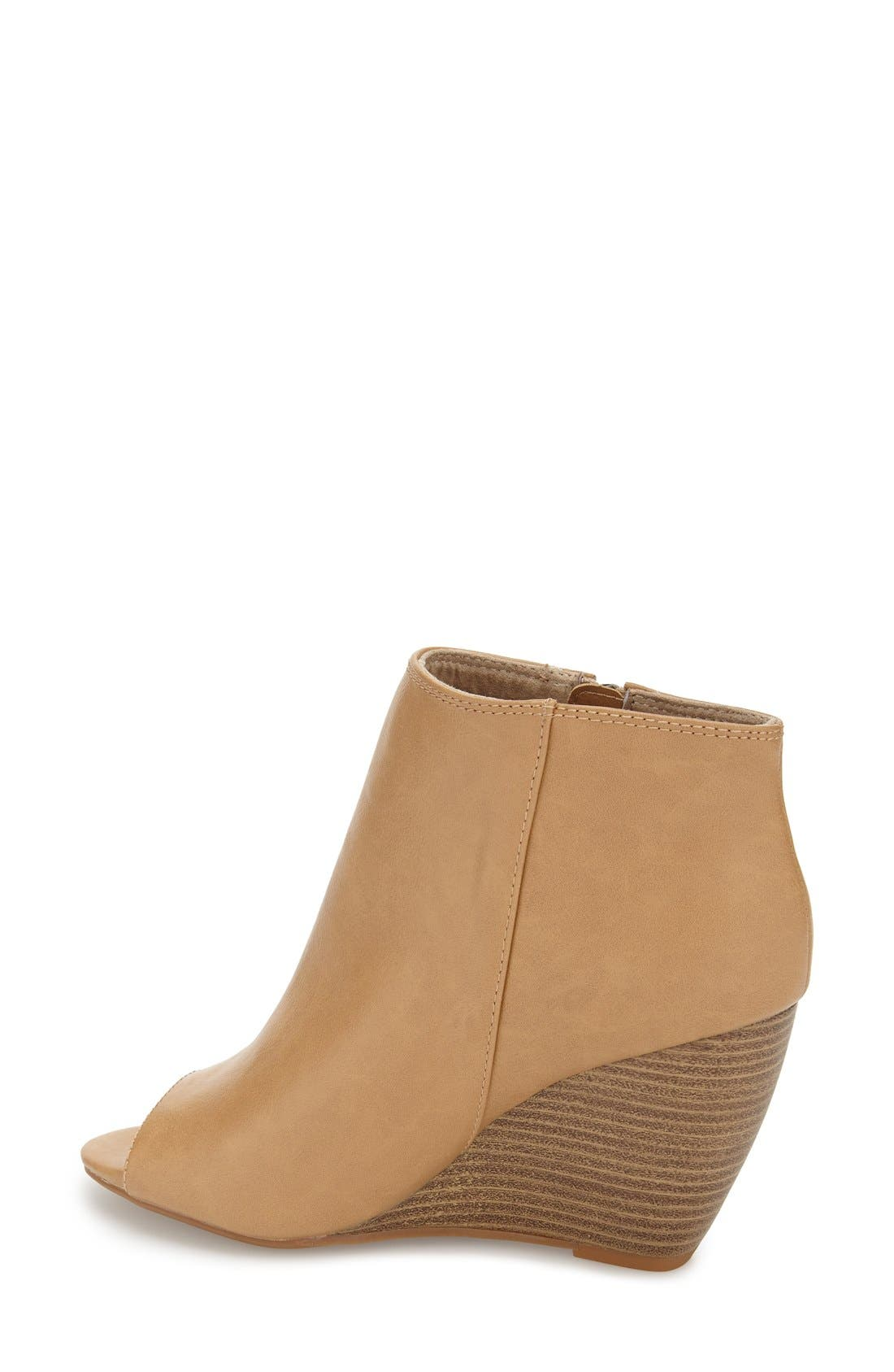 ,                             'Rebellion' Peep Toe Wedge Bootie,                             Alternate thumbnail 7, color,                             250