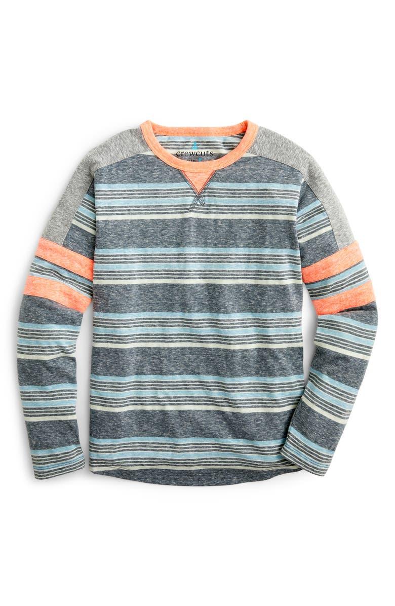 Crewcuts By J Crew Sport Stripe Ringer T Shirt Toddler Boys Little Boys Big Boys