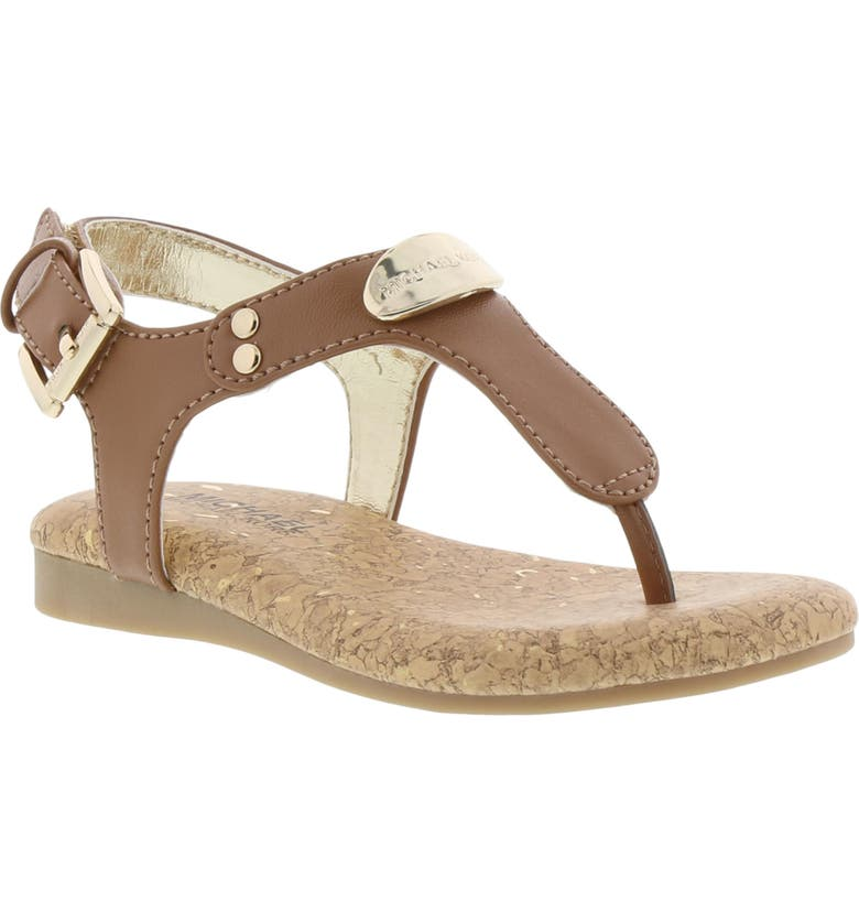 MICHAEL MICHAEL KORS Tilly Jane Thong Sandal, Main, color, COGNAC