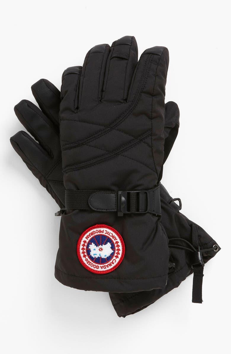 CANADA GOOSE Down Glove, Main, color, 001