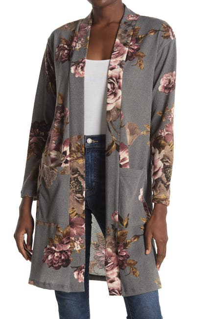 Image of WEST KEI Hachi Knit Floral Print Cardigan
