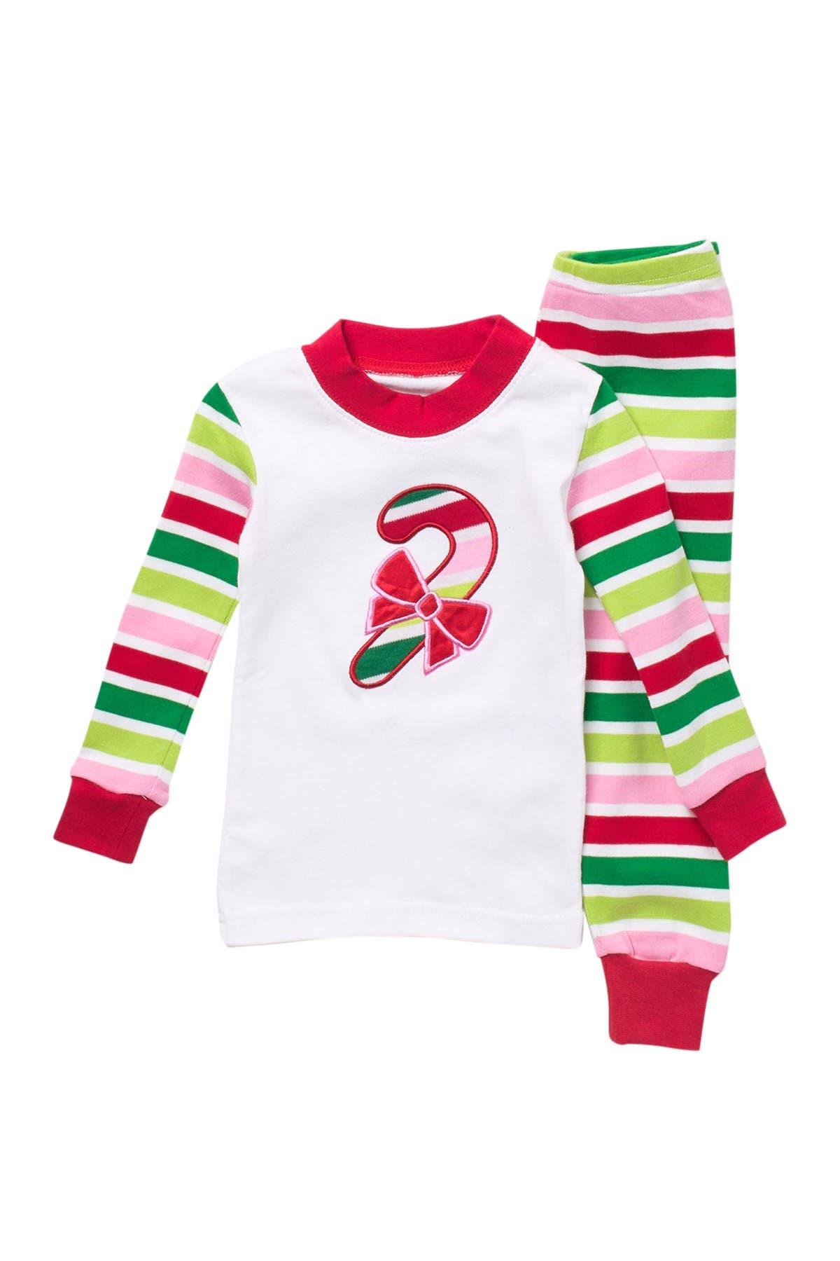 SARAS PRINTS Long John Christmas Pajamas