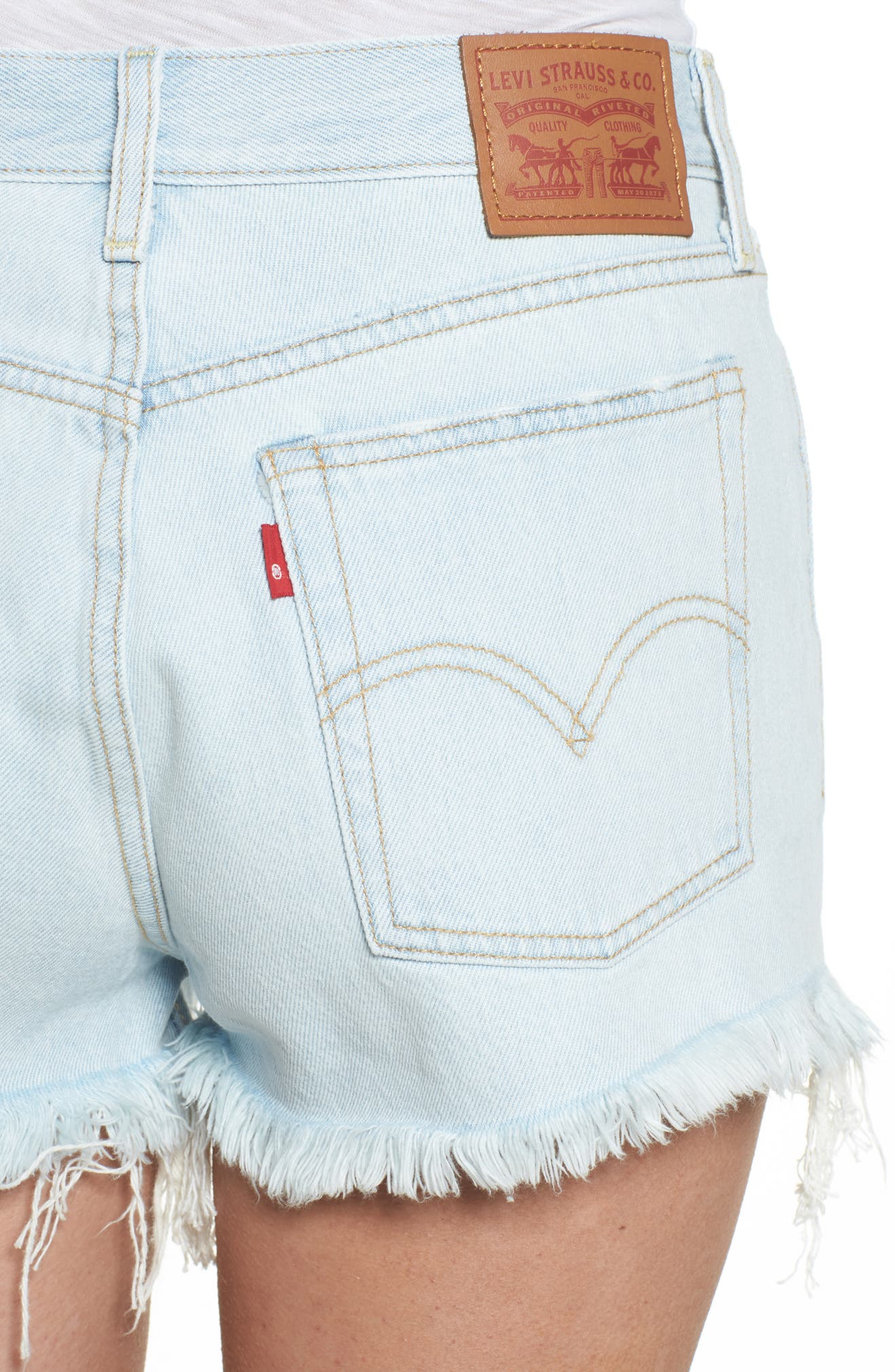 Wedgie High Waist Denim Shorts