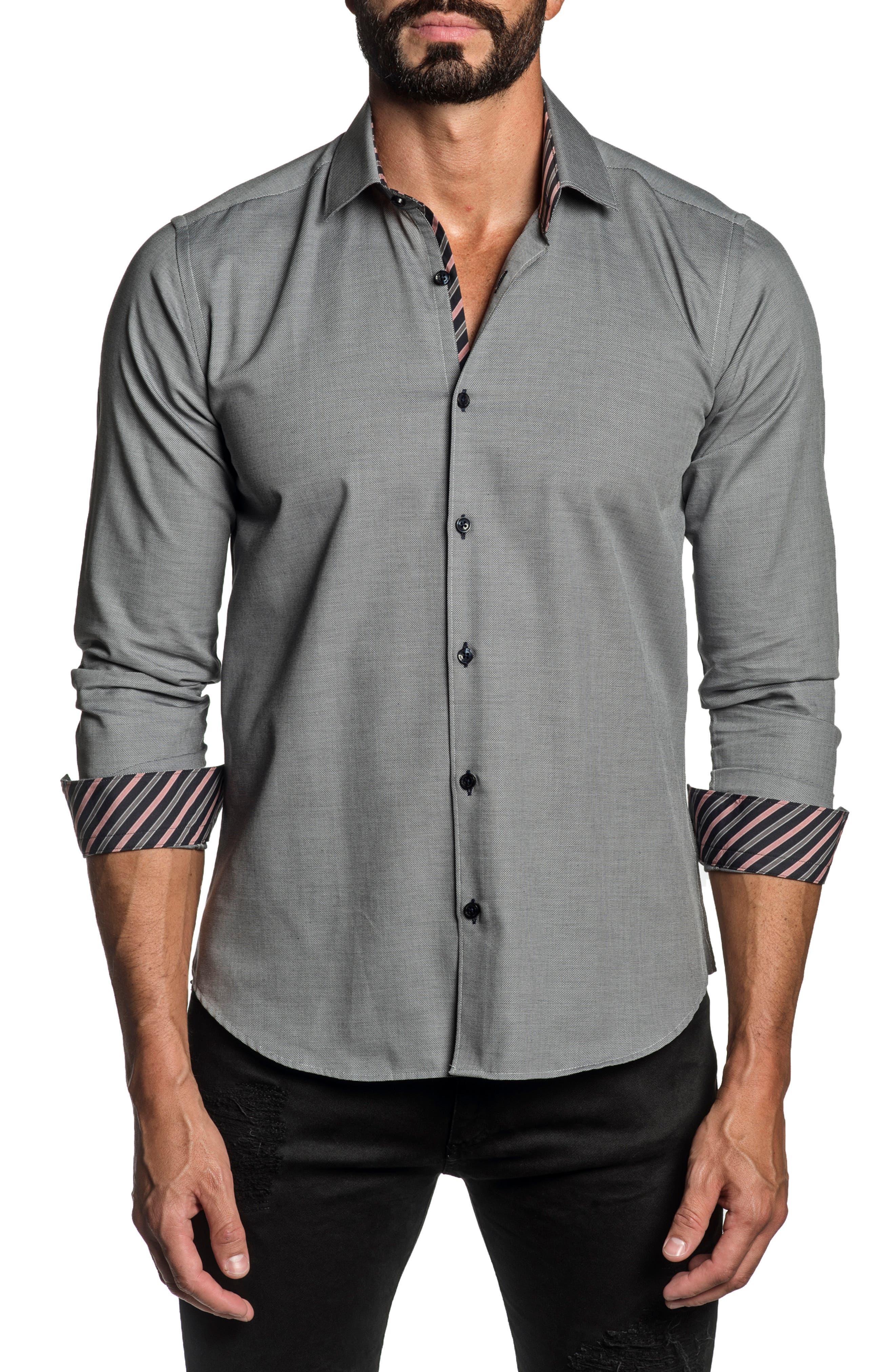 Regular Fit Solid Button-Up Shirt