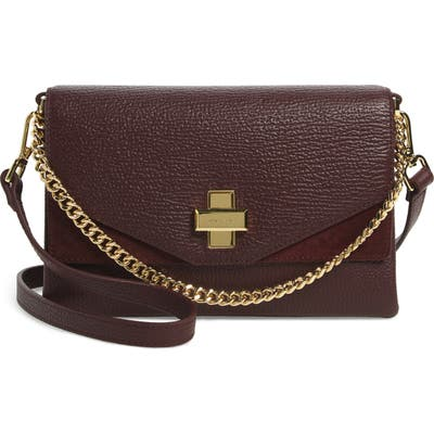 Ted Baker London Bethan Leather Crossbody Bag - Burgundy