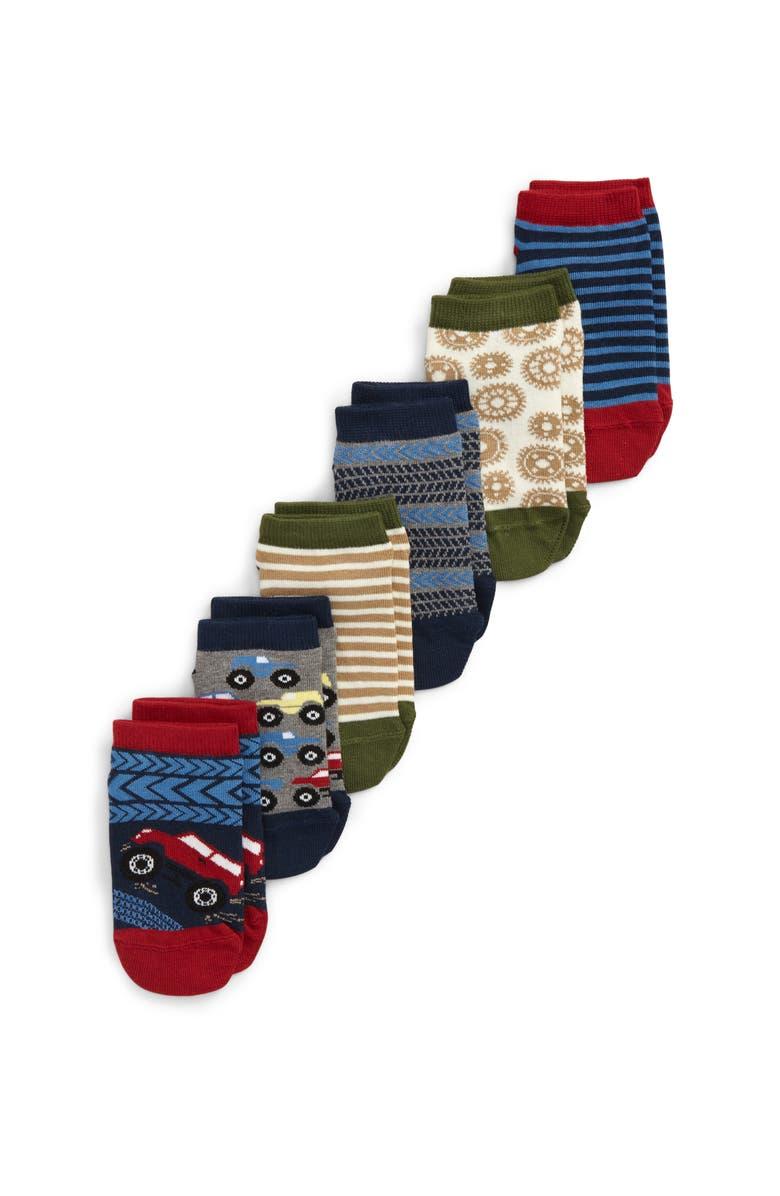 TUCKER + TATE Transportation 6-Pack Low-Cut Socks, Main, color, NAVY DENIM MULTI