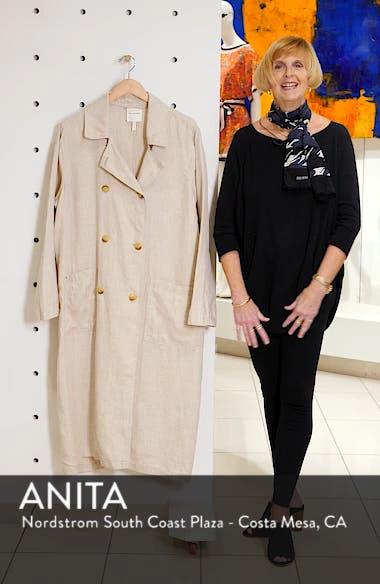 Oversize Linen Duster Coat, sales video thumbnail