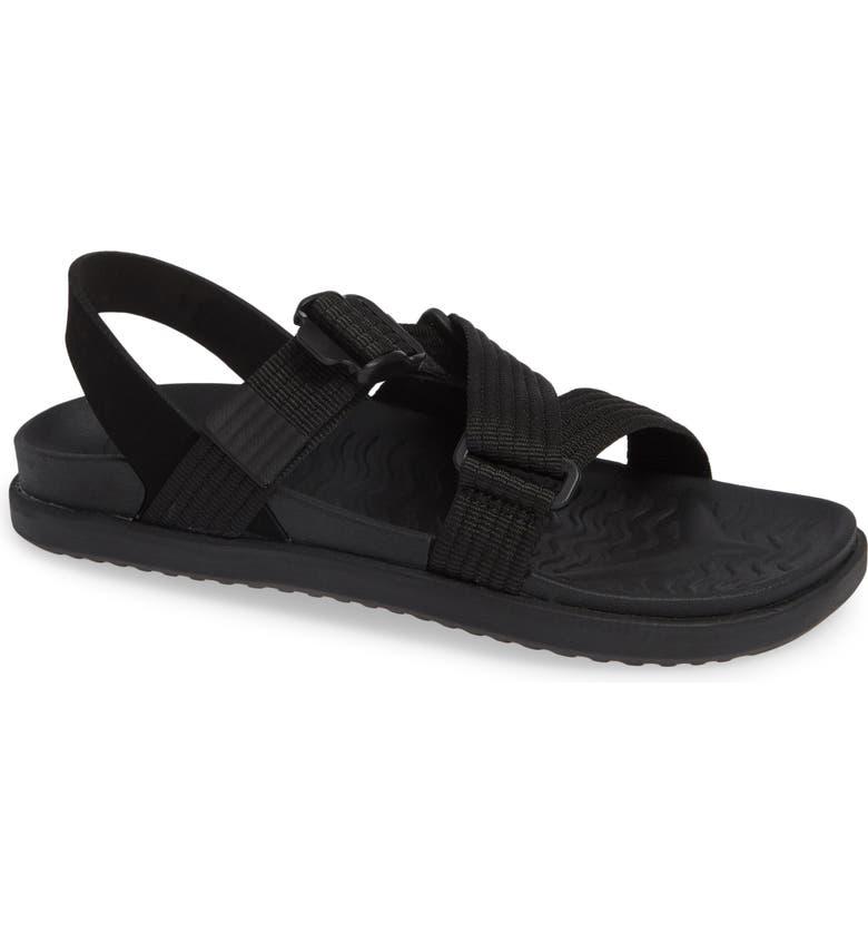 NATIVE SHOES Zurich Vegan Sandal, Main, color, JIFFY BLACK/ JIFFY BLACK