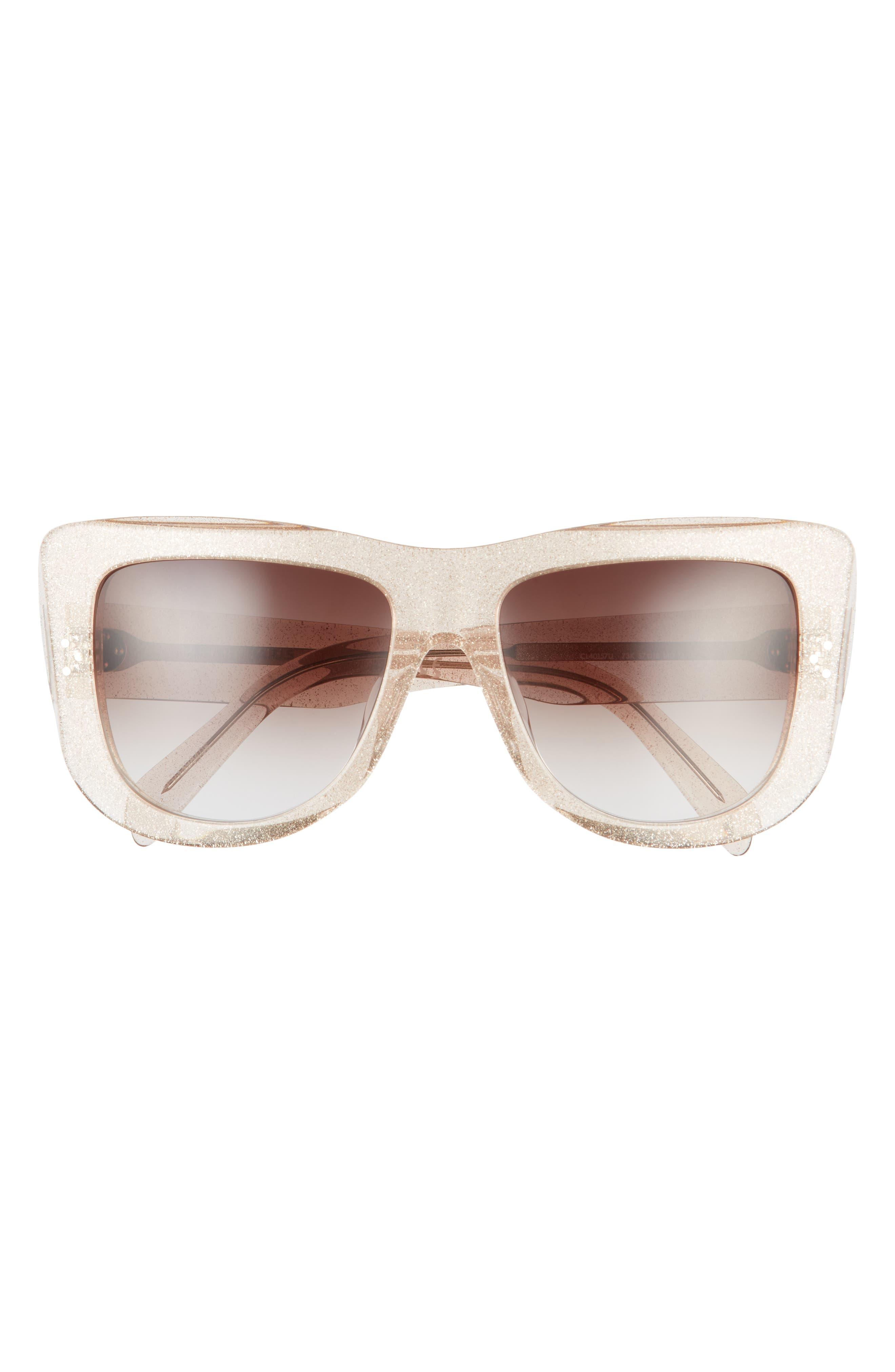 57mm Gradient Square Sunglasses