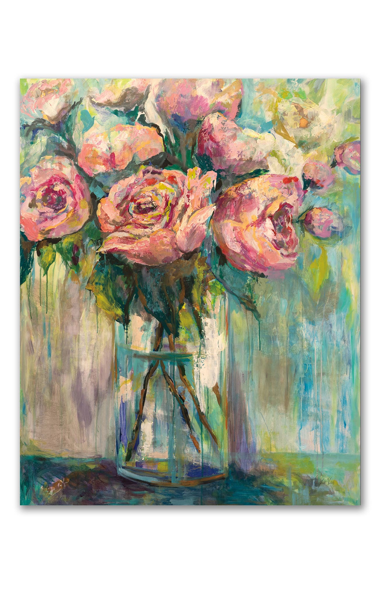 Courtside Market Peony Play Gallery-wrapped Canvas Wall Art In Multi