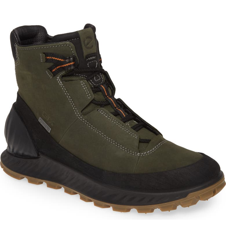 ECCO Exostrike Dyneema Gore-Tex<sup>®</sup> Sneaker Waterproof Boot, Main, color, BLACK/ DEEP FOREST LEATHER