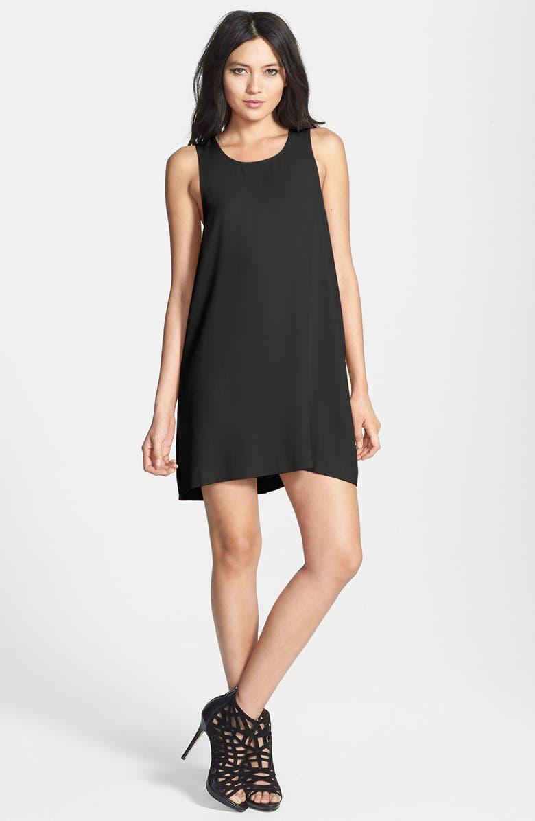 LEITH Crepe Minidress, Main, color, 001
