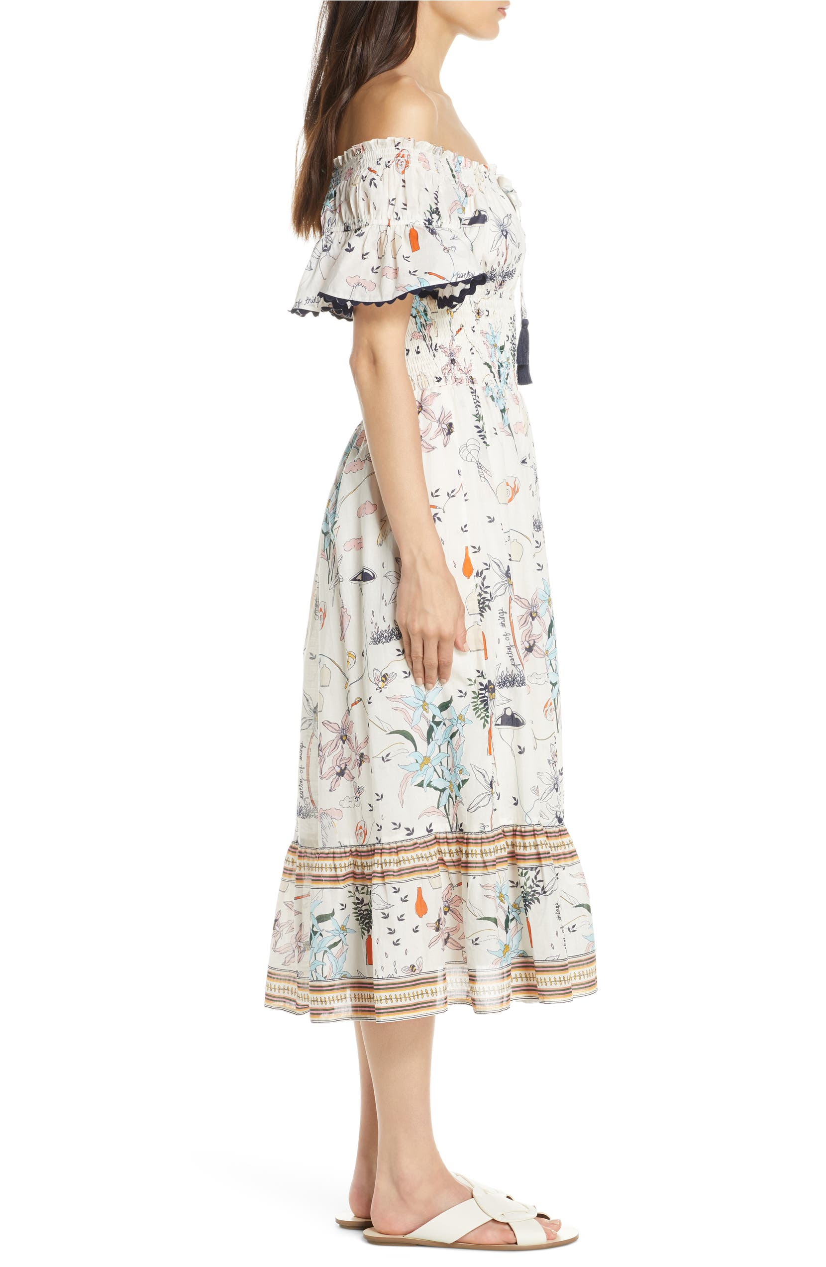 d803588ee02a2 Tory Burch Meadow Folly Off the Shoulder Cover-Up Dress | Nordstrom