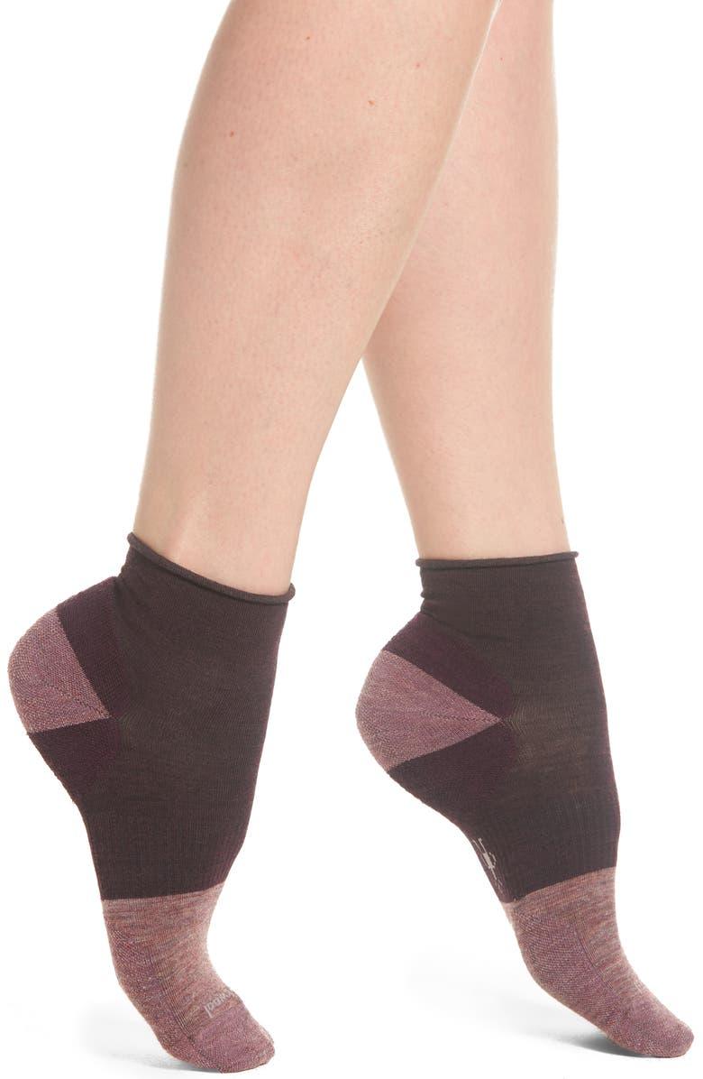 SMARTWOOL Luna Mini Boot Socks, Main, color, BORDEAUX HEATHER