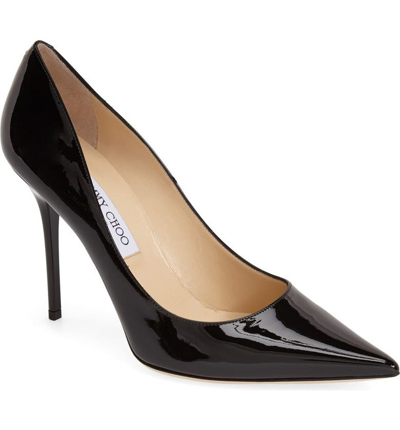 JIMMY CHOO 'Abel' Pointy Toe Pump, Main, color, 001