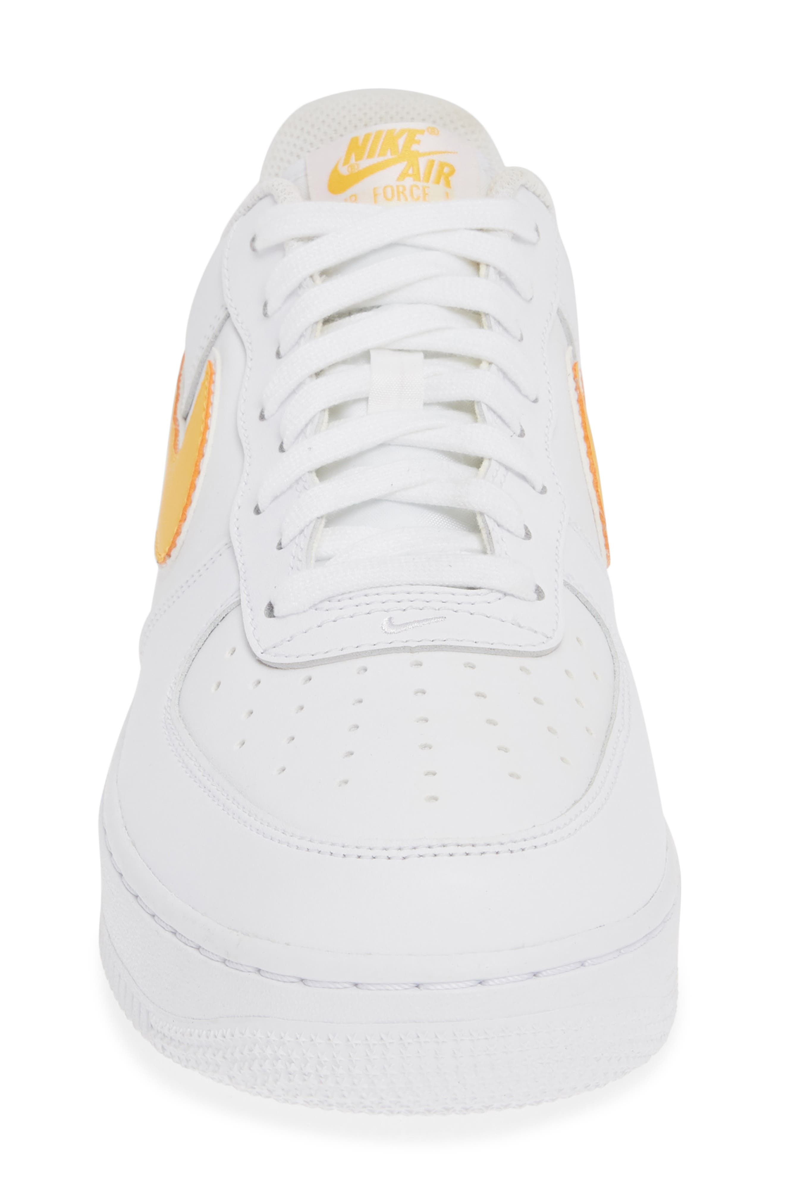,                             Air Force 1 '07 3 Sneaker,                             Alternate thumbnail 4, color,                             WHITE/ UNIVERSITY GOLD