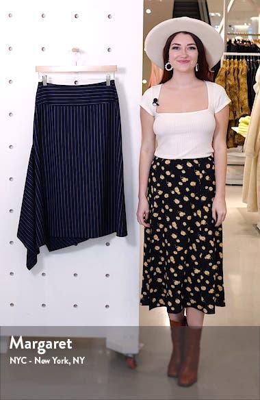 Vollux Pinstripe Stretch Wool Skirt, sales video thumbnail